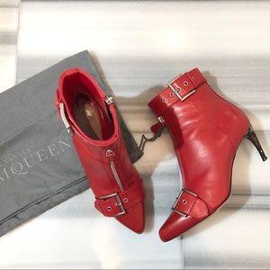 Alexander McQueen Buckle And Zip Front Boots